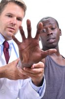 Musculoskeletal medical examination of the hand